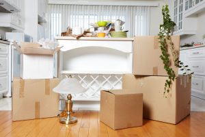 residential moving services happening in a house