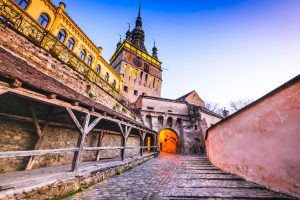 moving to romania to see clocktower of sighisoara